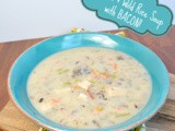 Chicken Wild Rice Soup...with Bacon