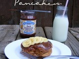 Chocolate Peanut Butter Banana Pancakes