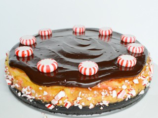 Chocolate Topped Peppermint Cheesecake #FifteenCheesecakes