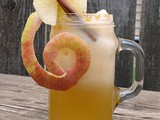Cold Apple Cider with Caramel Infused Rum #appleweek