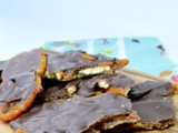 Dark Chocolate Salted Caramel Pretzel Bark