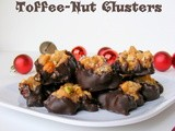 Dark Chocolate Toffee-Nut Clusters {12 Weeks of Christmas Treats}