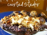 Feta & Caramelized Onion Crusted Steaks