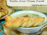 Garlic Sour Cream Twists