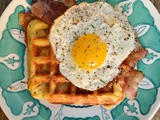Hash Brown Waffles with Bacon & Eggs #BrunchWeek