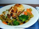 Heart Healthy Vegetable Alfredo with Pan Seared Chicken