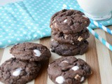 Hot Cocoa Pudding Cookies #Choctoberfest