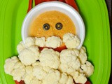 Hummus and Veggie Santa
