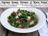 Italian Bean, Potato, and Kale Soup #BacktoSchoolWeek 30 Minute Meals