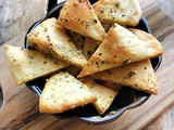 Parmesan-Garlic Pita Chips