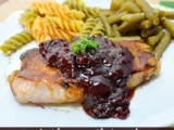 Pork Chops with Chipotle Cherry Sauce...and also Bourbon