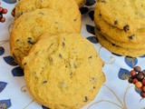 Pumpkin Chocolate Chip Pudding Cookies #choctoberfest