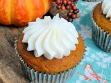 Pumpkin Spice Muffins with Cream Cheese Frosting