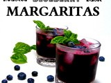 Roasted Blueberry Basil Margarita