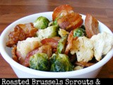 Roasted Brussels Spouts & Cauliflower with Bacon