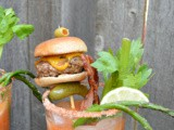 Roasted Tomato Bloody Mary with Slider Garnish #SecretRecipeClub