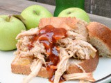 Slow Cooker Smoky Apple Pulled Pork #AppleWeek