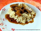 Steak Tips with Peppered Mushroom Sauce: src