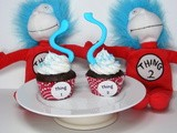 Thing 1 & Thing 2 Cupcakes