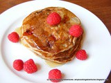 Whole Wheat Raspberry Pear Pancakes