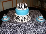 Zebra Stripe Wedding Cake