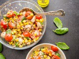 Easy Italian Tuna Corn Salad
