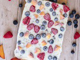Frozen Berry Chocolate Chip Yogurt Bark