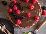 Homemade Creamy Double Chocolate Italian Pie