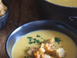 Homemade Pumpkin Soup with Parmesan Croutons