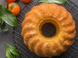 Italian Glazed Mandarin Orange Almond Cake