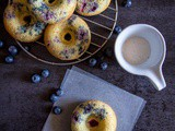 Lemon Glazed Blueberry Baked Donuts