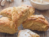 Maple Glazed Brown Sugar Cinnamon Scones