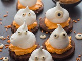 Meringue Ghost Chocolate Sugar Cookies