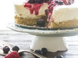 No Bake Summer Mixed Berry Cheesecake