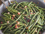 Pan Fried Green Beans with Bacon (Pancetta)