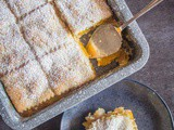 Peach Filled Italian Crostata Bars