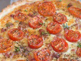 Tomato Cheese & Pancetta Savory Pie