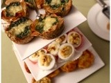 Easter Dinner - Devilled Eggs and Delicious Garlic Prawn Linguine
