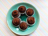 Two Ingredient Chocolate Cupcakes with Peanut Butter Mousse