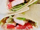 Chicken Club House Wrap with baconnaise