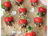 Chocolate Covered Strawberries With Salted Peanuts