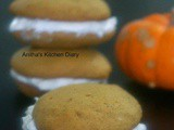 Pumpkin Whoopie Pie with step by step pictures