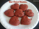 Red Velvet Cookie - Heart Shaped food idea for Valentines day
