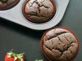 Spinach Strawberry Chocolate Cupcake