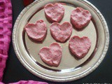 Strawberry Sandesh - Heart shape Food idea for Valentines Day