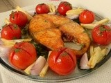 Baked fish (super low calorie) i have