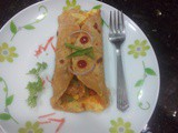 Egg frankie recipe|Egg chapati roll|Egg veggie wrap