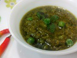 Green Peas Mint Masala Gravy,Pudina Matar Masala,Fresh peas mint curry,