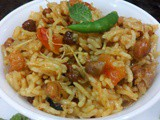 Kala chana pulao| Brown chickpea pulav|black gram pilaf