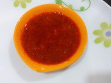 Red Chilli Garlic Chutney,Spicy red chutney for chat